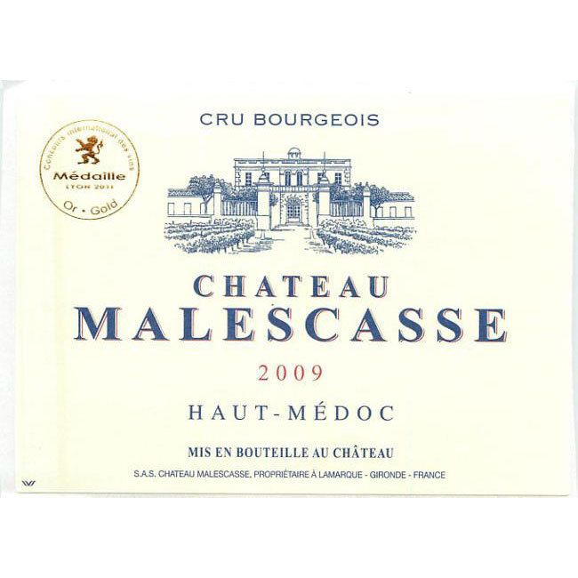 Chateau Malescasse  2009 Front Label