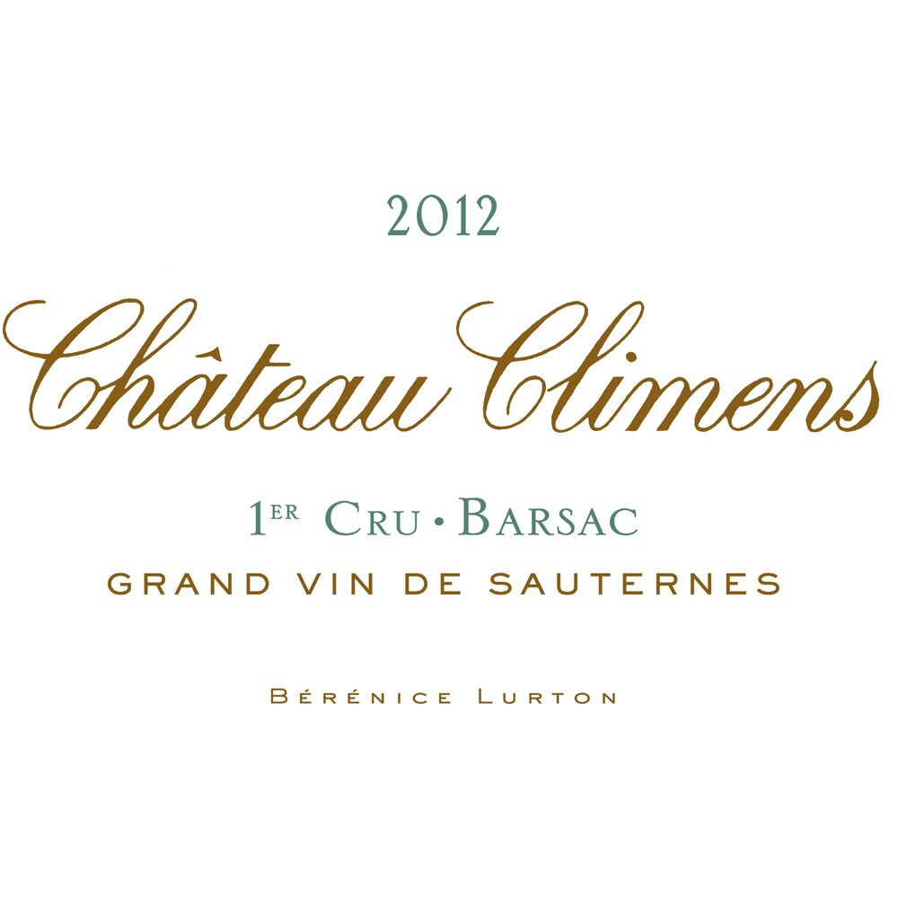 Chateau Climens  2012 Front Label