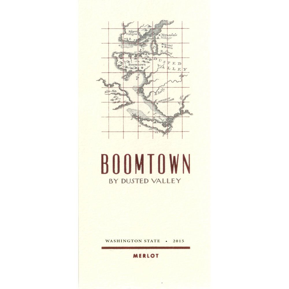 Boomtown by Dusted Valley Merlot 2015 Front Label