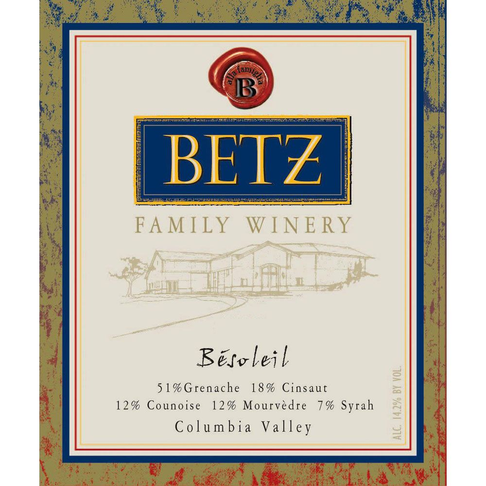 Betz Family Winery Besoleil 2015 Front Label