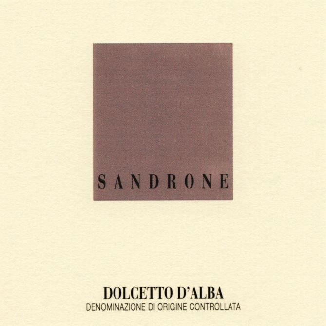 Sandrone Dolcetto d'Alba 2016 Front Label