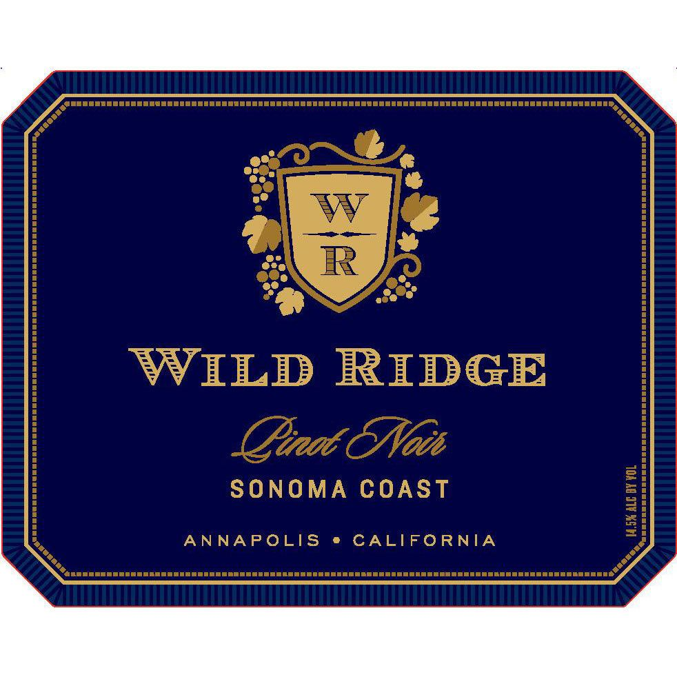 Wild Ridge Pinot Noir 2014 Front Label