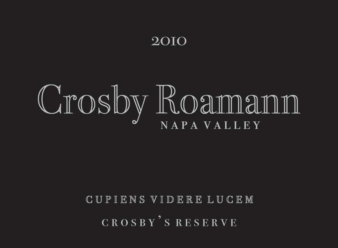 Crosby Roamann Cross Reserve 2010 Front Label