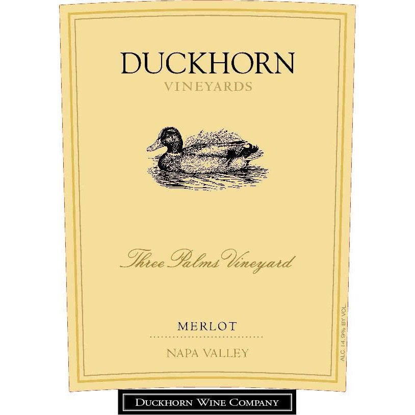Duckhorn Three Palms Merlot (creased label - 1.5 Liter Magnum) 2014 Front Label