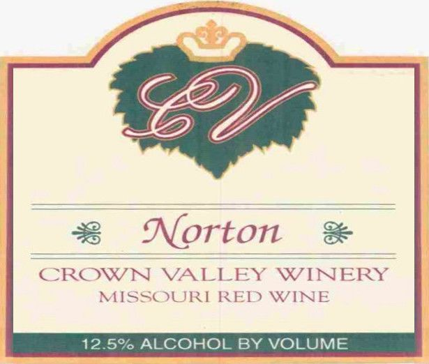 Crown Valley Winery Norton 2002 Front Label