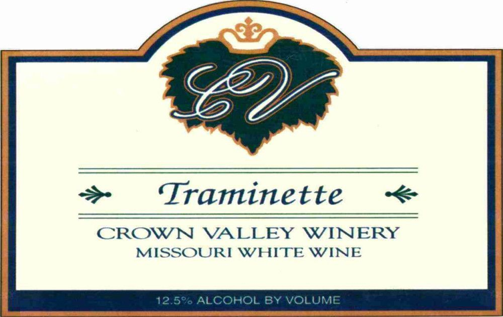 Crown Valley Winery Traminette 2004 Front Label