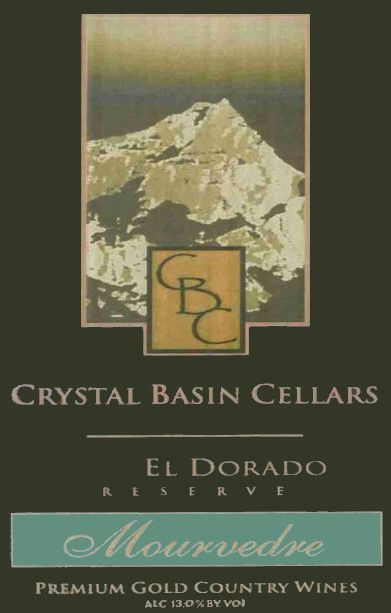 Crystal Basin Cellars Reserve Mourvedre 2002 Front Label