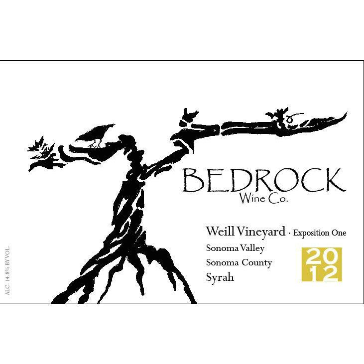 Bedrock Wine Company Weill Vineyard Syrah Exposition 1 2012 Front Label