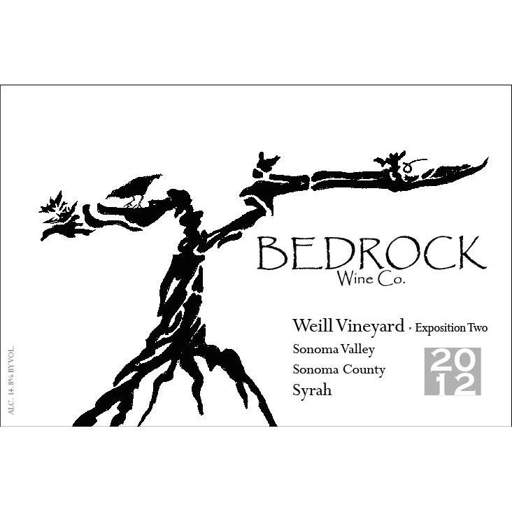 Bedrock Wine Company Weill Vineyard Syrah Exposition 2 2012 Front Label