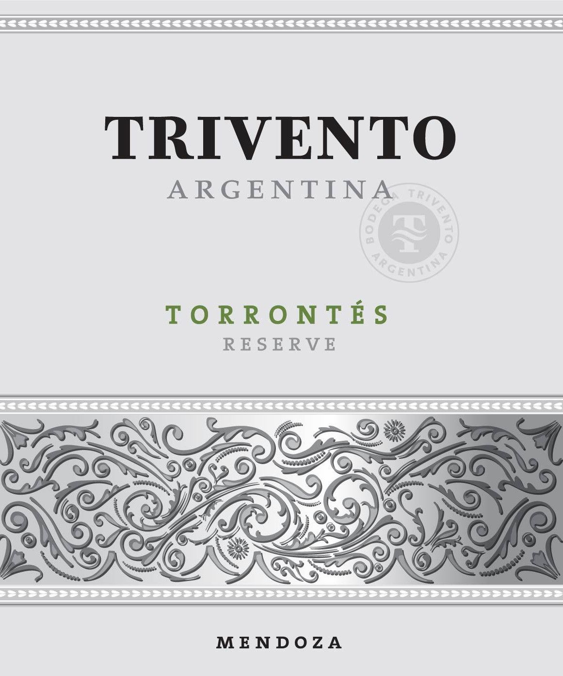 Trivento Reserve Torrontes 2015 Front Label