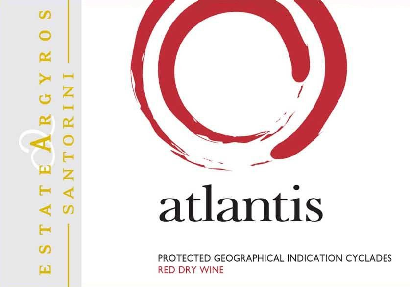 Argyros Atlantis Red 2010 Front Label