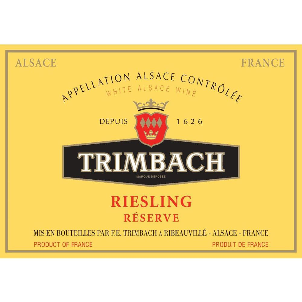 Trimbach Reserve Riesling 2015 Front Label