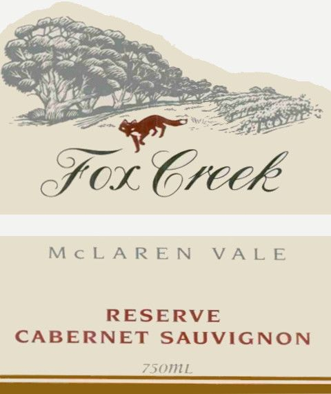 Fox Creek Reserve Cabernet Sauvignon 2001 Front Label
