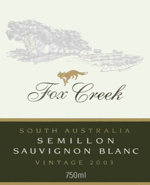 Fox Creek Semillon Sauvignon Blanc 2003 Front Label