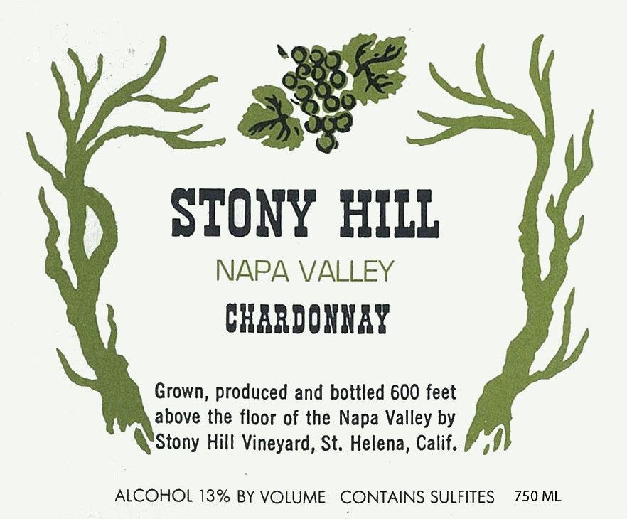 Stony Hill Chardonnay 2011 Front Label