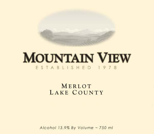 Mountain View Winery California Merlot 2014 Front Label
