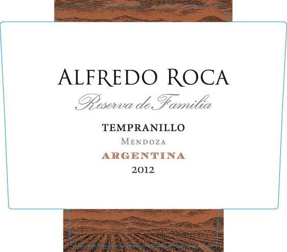 Roca Wines Family Reserve Tempranillo 2012 Front Label
