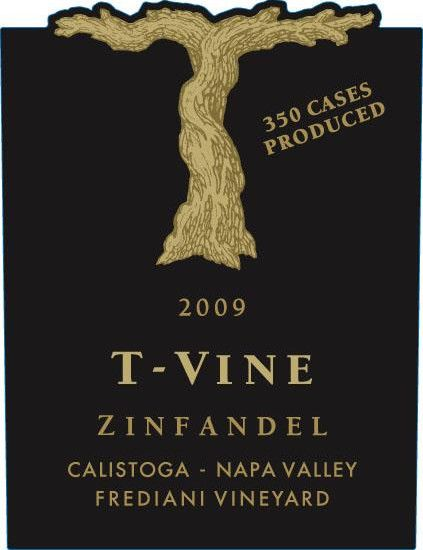 T-Vine Cellars Frediani Vineyard Zinfandel 2009 Front Label