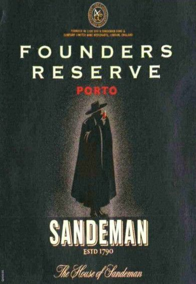 Sandeman Founders Reserve Ruby Port 1990 Front Label
