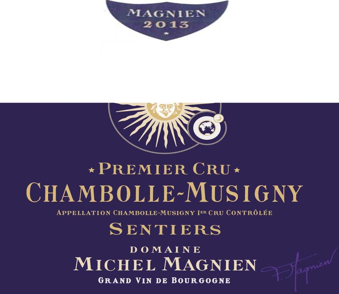 Michel Magnien Chambolle-Musigny les Sentiers Premier Cru 2013 Front Label