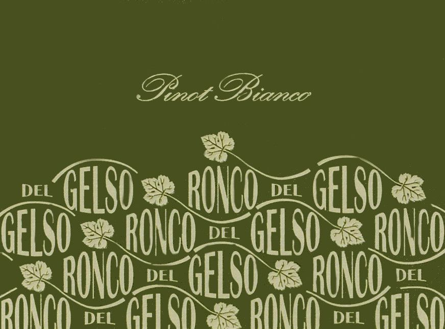 Ronco del Gelso Friuli Isonzo Pinot Bianco 2012 Front Label