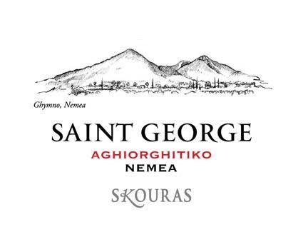 Skouras Nemea Saint George 2010 Front Label