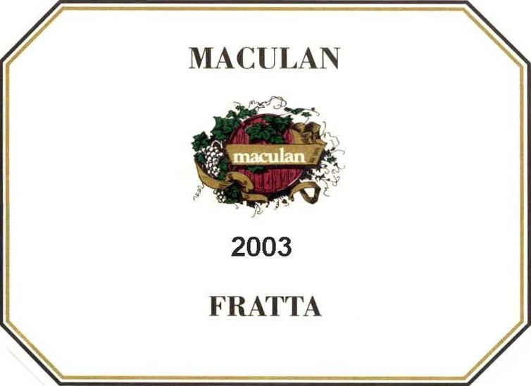 Maculan Fratta 2003 Front Label