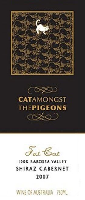 Rosedale Wines Australia Cat Amongst The Pigeons Fat Cat Shiraz Cabernet Sauvignon 2007 Front Label