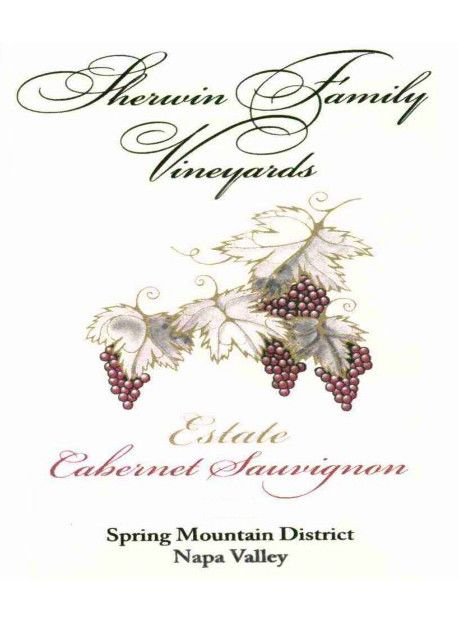 Sherwin Family Vineyards Spring Mountain District Estate Cabernet Sauvignon 2011 Front Label
