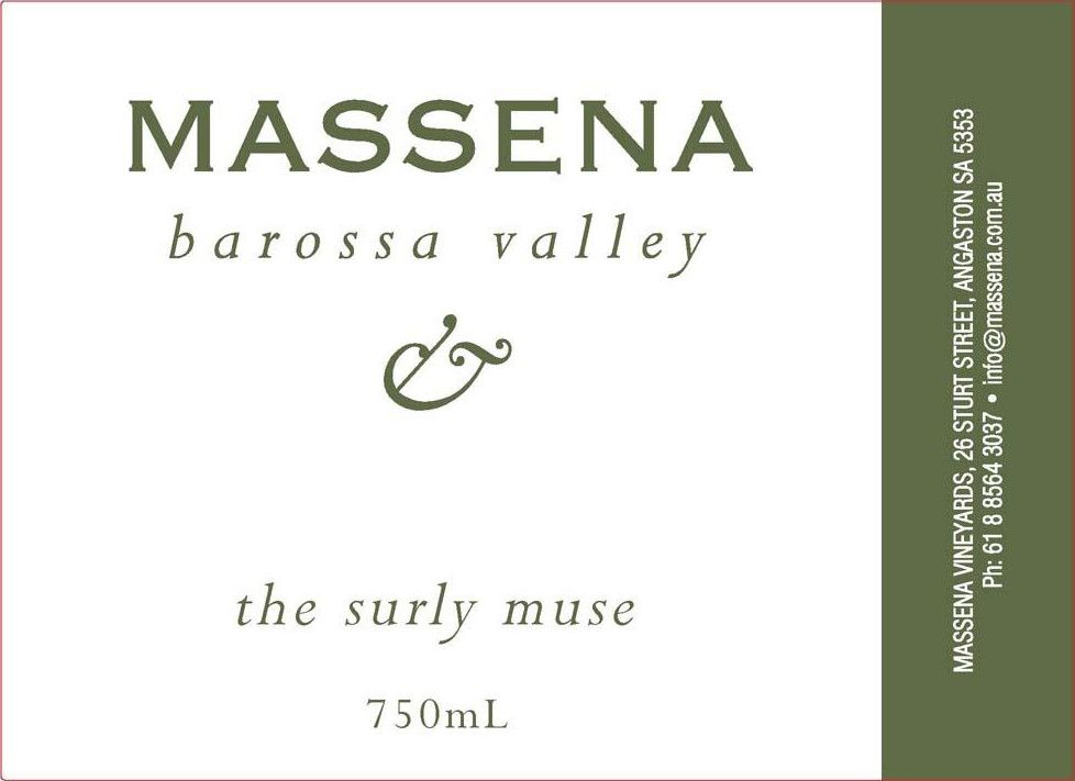 Massena The Surly Muse 2008 Front Label