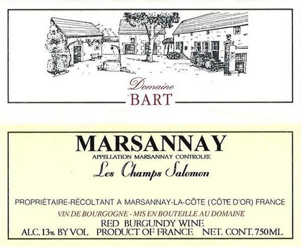 Andre Bart Marsannay les Champs Salomon 2014 Front Label