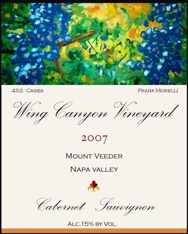 Wing Canyon Mount Veeder Cabernet Sauvignon 2007 Front Label