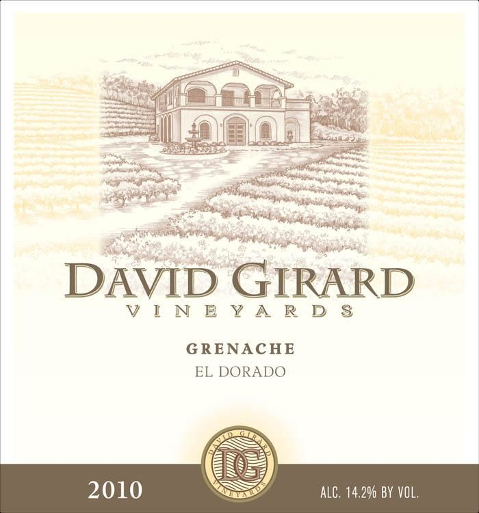 David Girard Grenache 2010 Front Label