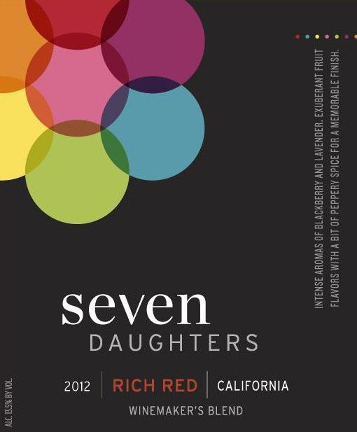 Seven Daughters Winemaker's Blend Rich Red 2012 Front Label