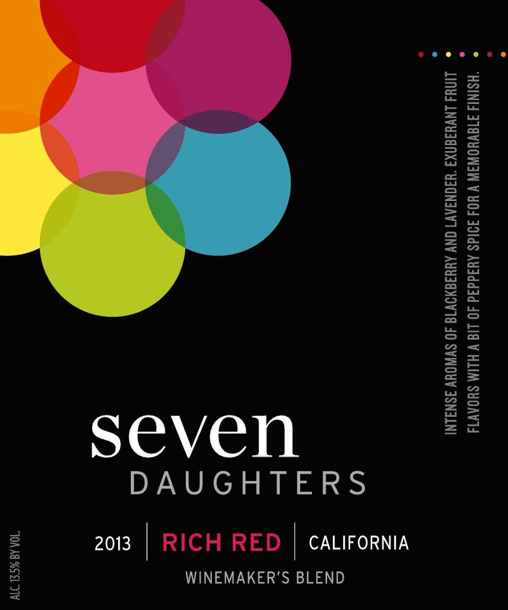 Seven Daughters Winemaker's Blend Rich Red 2013 Front Label