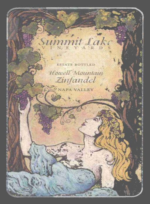 Summit Lake Howell Mountain Zinfandel 2001 Front Label