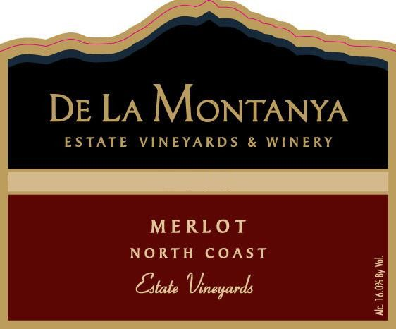 De La Montanya Winery Estate Vineyard Merlot 2012 Front Label