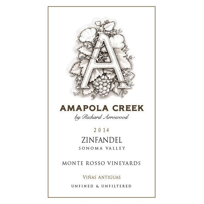 Amapola Creek Monte Rosso Vineyard Zinfandel 2014 Front Label