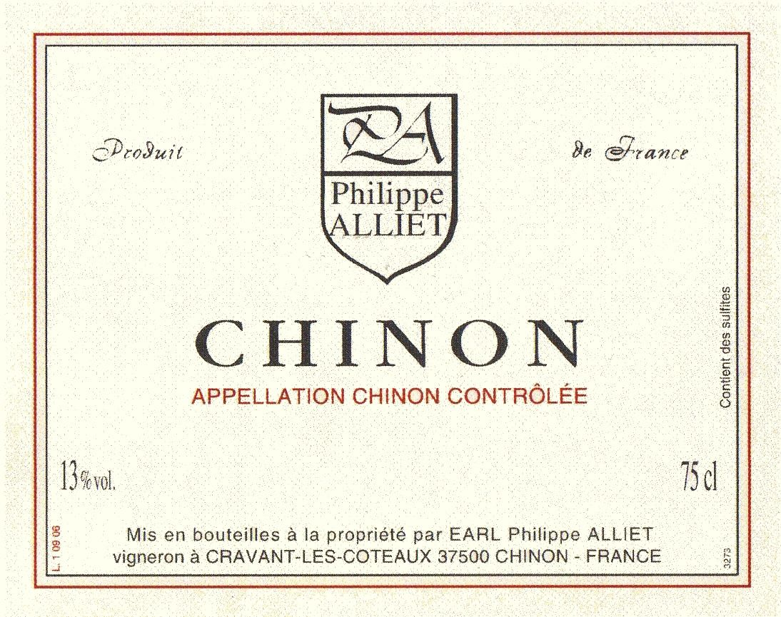 Philippe Alliet Chinon 2013 Front Label
