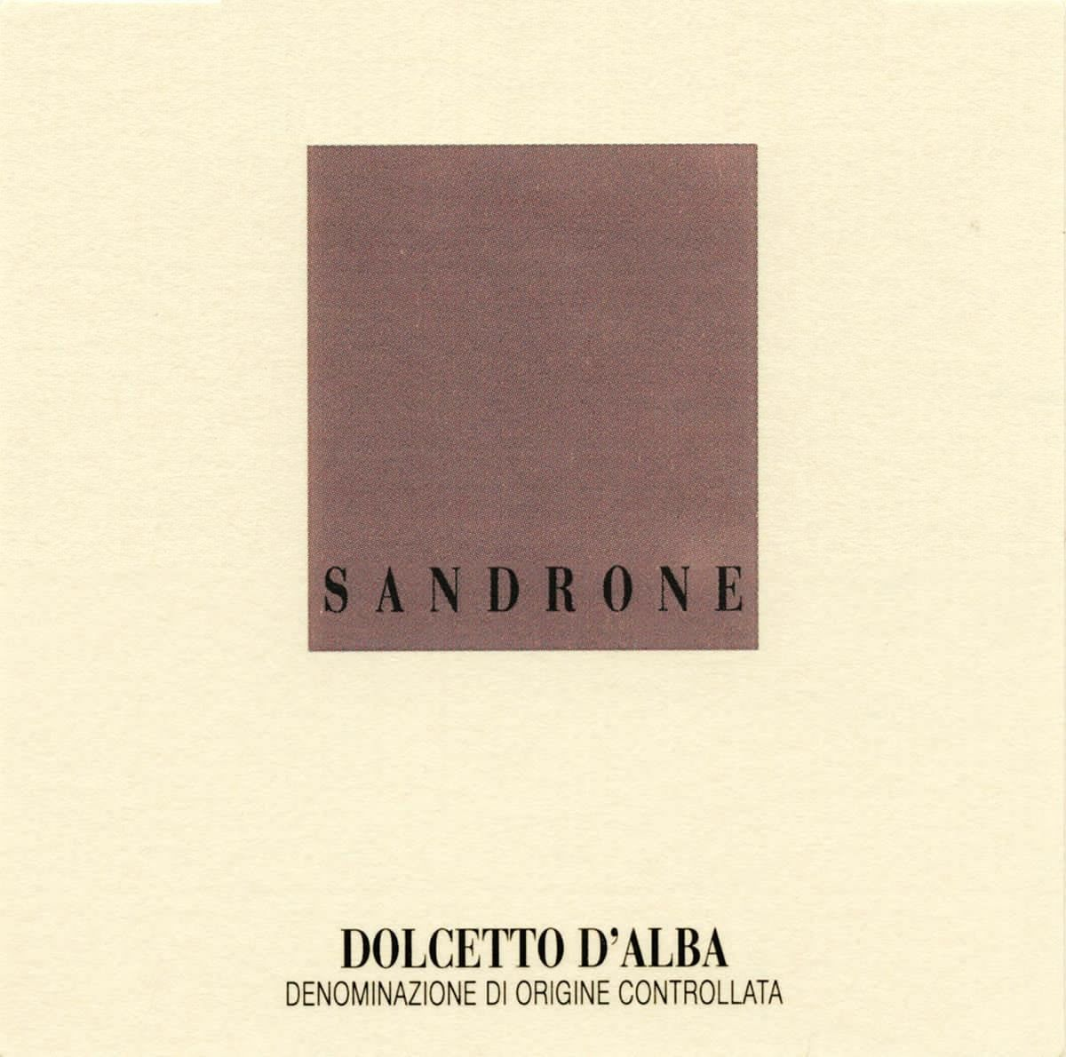 Sandrone Dolcetto d'Alba 2004 Front Label