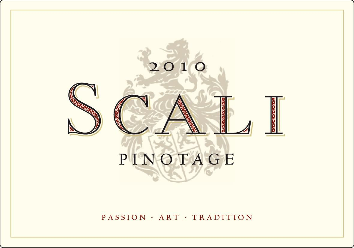Scali Wines Pinotage 2010 Front Label