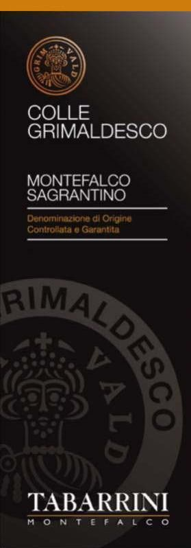 Tabarrini Sagrantino di Montefalco Grimaldesco 2010 Front Label