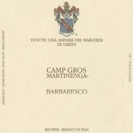 Marchesi di Gresy Barbaresco Camp Gros Martinenga 2008 Front Label