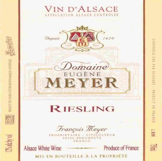 Domaine Eugene Meyer Riesling 2008 Front Label