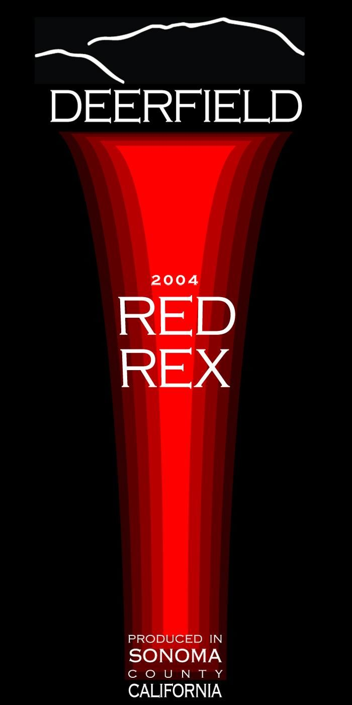 Deerfield Ranch Winery Red Rex 2004 Front Label