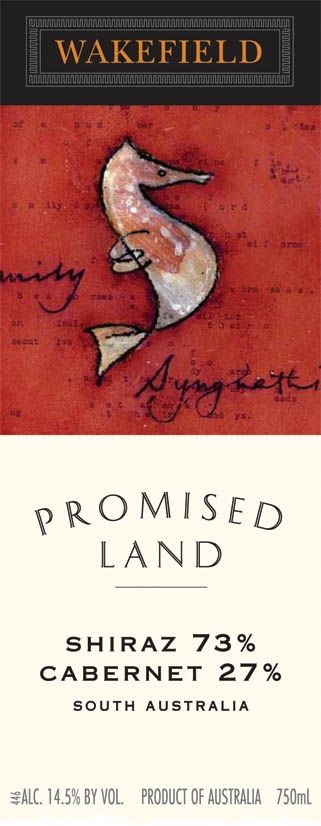 Taylors Wines Promised Land Shiraz Cabernet 2007 Front Label