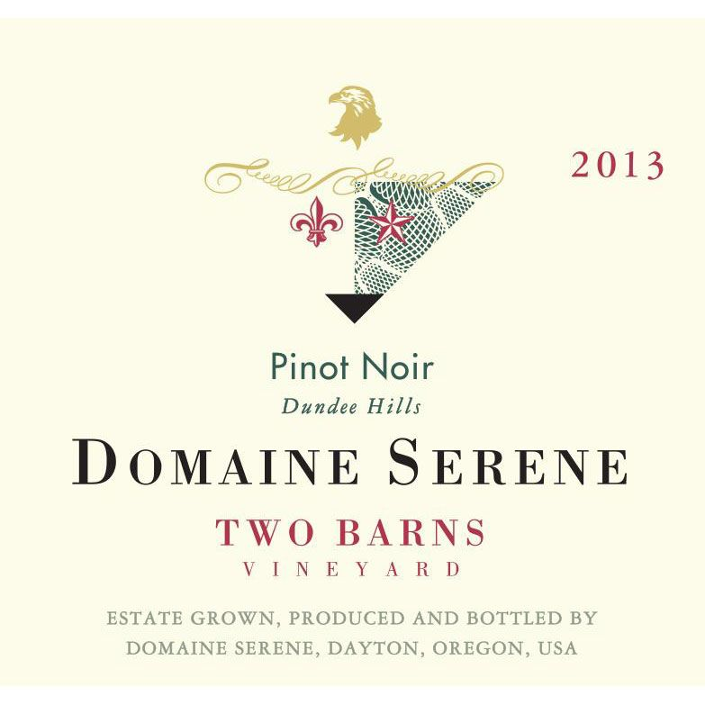 Domaine Serene Two Barns Vineyard Pinot Noir 2013 Front Label