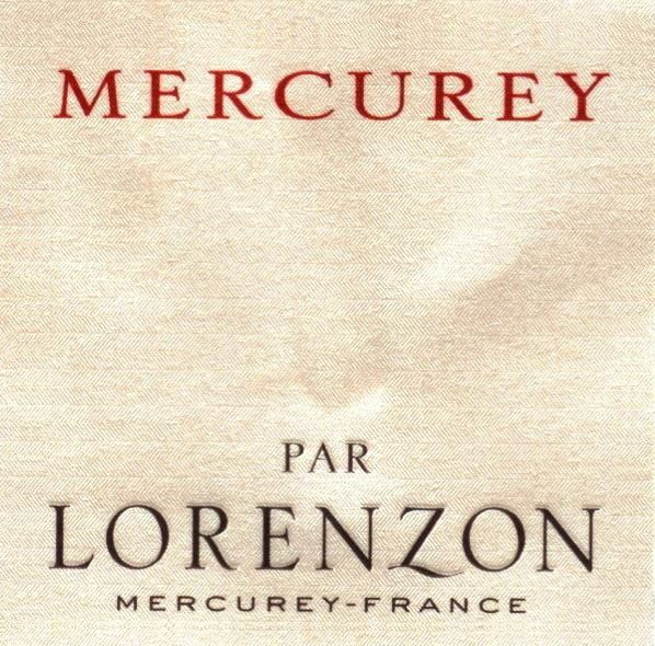 Domaine Bruno Lorenzon Mercurey Rouge 2007 Front Label