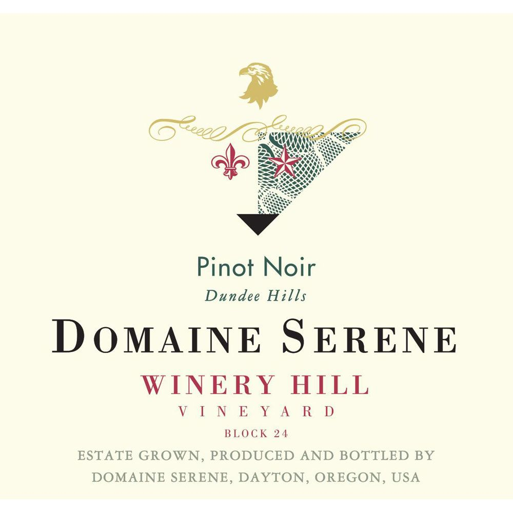Domaine Serene Winery Hill Vineyard Pinot Noir 2013 Front Label