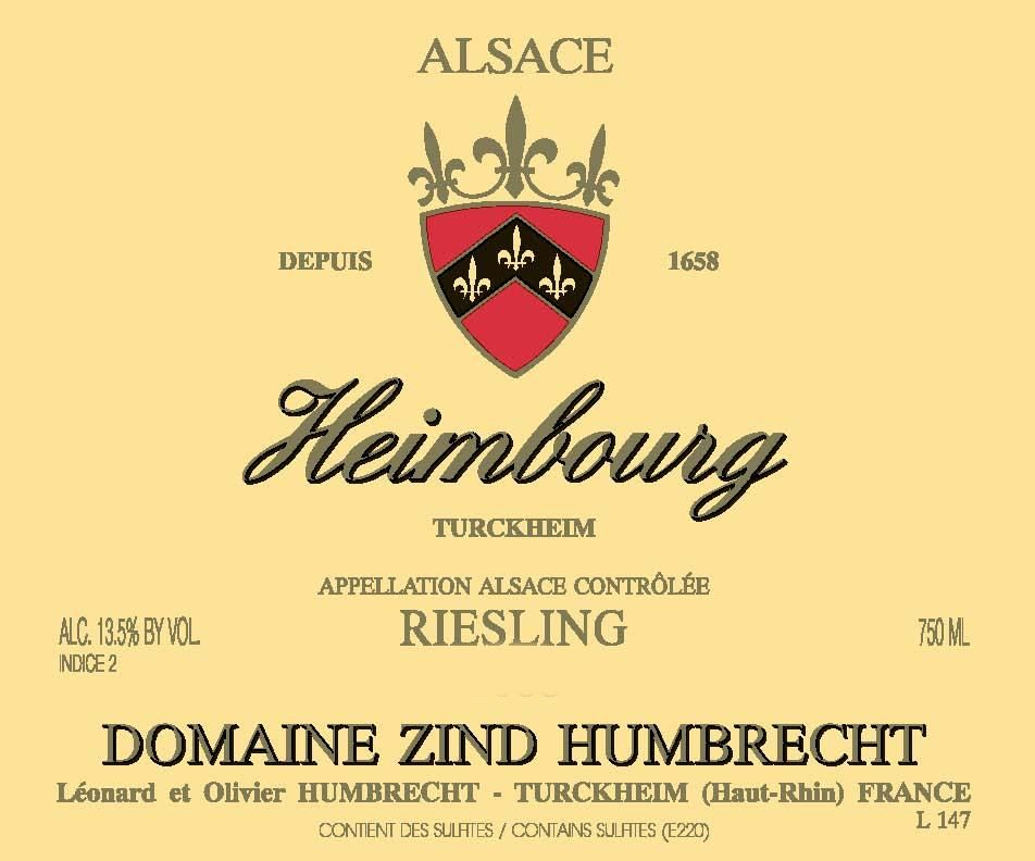 Zind-Humbrecht Heimbourg Riesling 2010 Front Label